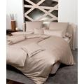 Janine Mako-Satin modernclassic beige Bettbezug 135x200, 80x80