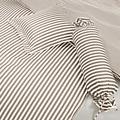 Janine Mako-Satin modernclassic cappucino 40x40 Kissenbezug mit Stehsaum