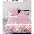Janine Mako-Satin moments rosa beere koralle siena 135x200, 80x80