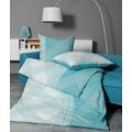 Janine Mako-Soft-Seersucker TANGO türkisblau 135x200, 80x80