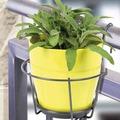 JARDIFER Blumentopfhalter zum Einhängen grau, Ø22cm