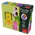Jumbo Spiele Goula D55234 - Magnetisches Holzpuzzle Tiere, 12-teilig