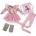 Käthe Kruse Ballerina Outfit rosa S 41-43 cm