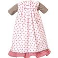 Käthe Kruse Puppenbekleidung Kleid weiß-rot mit Unterrock 52-56 cm