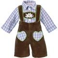 Käthe Kruse Puppenbekleidung Lederhose braun mit Karohemd 39-41 cm