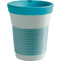 Kahla cupit Becher 0,35 l + Trinkdeckel 10x2 cm MG green lagoon + mint grey