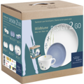Kahla Five Senses Design 2 Go Set 12tlg. Wildblume blau/rot