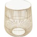 Kare Design Beistelltisch Beam Weiß Marmor Messing Ø32cm