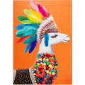 Kare Design Bild Touched Lama Chief 100x70cm