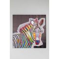 Kare Design Bild Touched Wildlife Zebra 80x80cm