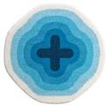 GRUND Badteppich KARIM RASHID Concept 03 143 blau 90 cm rund