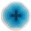 GRUND , Badteppich, KARIM RASHID Concept 03 143 blau