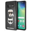 Karl Lagerfeld - Choupette Embossed Hülle- Samsung Galaxy S10+ - Schwarz