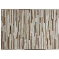 Kayoom Lederteppich Lavish 110 Creme 120 x 170 cm