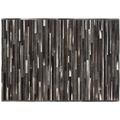 Kayoom Lederteppich Lavish 110 Grau-Braun 120 x 170 cm