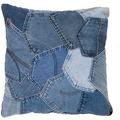 Kayoom Sofakissen Denim Pillow 220 Jeansblau 45 x 45 cm