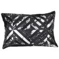 Kayoom Lederkissen Spark Pillow 410 Schwarz / Silber 40 x 60 cm