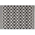 Kayoom Teppich Now! 300 Schwarz / Weiß 120 x 170 cm