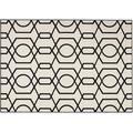 Kayoom Teppich Now! 400 Elfenbein / Schwarz 160cm x 230cm