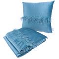 Kenda Sand Dekokissen & Decke Palmira 225 2er-Set Aqua