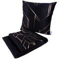 Kenda Sand Dekokissen & Decke Prisma 125 2er-Set Schwarz / Gold