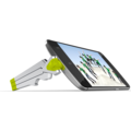Kenu Stance Compact, Tripod für Android & Windows Telefone (mit micro-USB Port), limone
