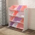 Kidkraft Aufbewahrungssystem - weiß mit pastellfarbenen Boxen