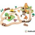 Kidkraft Holzeisenbahnset Dinosaurier mit Aufbewahrungsbox