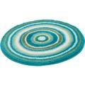 Kleine Wolke Badteppich Mandala, Türkis 60 cm rund