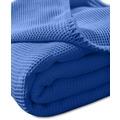 """Kneer Pique-Decke La Diva Maison """"Qualität 91"""" Farbe 40 kobalt Pique-Decke 150/210 cm"""
