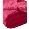 "Kneer Pique-Decke La Diva Maison ""Qualität 91"" Farbe 42 rubin Pique-Decke 150/210 cm"