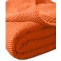 "Kneer Pique-Decke La Diva Maison ""Qualität 91"" Farbe 65 orange Pique-Decke 150/210 cm"