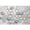 "Komar Digitaldruck Vliestapete ""Hexagon Concrete"" 400 x 250 cm"