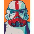 Komar Mandalorian Wandbild Mandalorian Pop Art Stormtrooper 30 x 40 cm