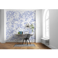 Komar RAW Charming Bloom blau, weiß 300 x 280 cm