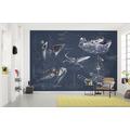 "Komar Vlies Fototapete ""Star Wars Blueprint Dark"" 200 x 280 cm"