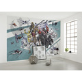 "Komar Vlies Fototapete ""Star Wars Cartoon Collage Wide"" 200 x 280 cm"