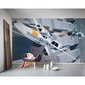 """Komar Vlies Fototapete """"Star Wars Classic RMQ X-Wing vs TIE-Fighter"""" 500 x 250 cm"""