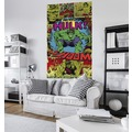"Komar Vlies Panel ""Marvel Comics The Incredible Hulk Shoom"" 120 x 200 cm"