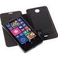 Krusell FolioSkin Ekerö für Microsoft Lumia 430, Schwarz