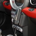 Kuda Lederkonsole für BMW Mini ab 11/06 (mit Navi) Echtleder schwarz