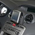 Kuda Navigationskonsole für Navi Peugeot 308 ab 09/2007 & RCZ Mobilia / Kunstleder schwarz