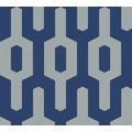 Lars Contzen Vliestapete Artist Edition No. 1 Tapete Ageless Meander blau grau 10,05 m x 0,53 m