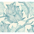 Lars Contzen Vliestapete Artist Edition No. 1 Tapete Dried Flowers blau creme 10,05 m x 0,53 m