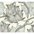 Lars Contzen Vliestapete Artist Edition No. 1 Tapete Dried Flowers grau schwarz weiß 10,05 m x 0,53 m