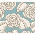 Lars Contzen Vliestapete Artist Edition No. 1 Tapete Fleur Côtiere blau braun creme 10,05 m x 0,53 m