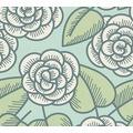 Lars Contzen Vliestapete Artist Edition No. 1 Tapete Fleur Côtiere blau grün weiß 10,05 m x 0,53 m