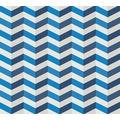Lars Contzen Vliestapete Artist Edition No. 1 Tapete Mélodie à l'Accordeon blau grau weiß 10,05 m x 0,53 m
