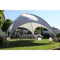 Leco Kuppelzelt grau 500 x 500 cm Stahl verzinkt Pavillon