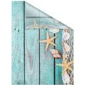 Lichtblick Fensterfolie selbstklebend, Sichtschutz, Bretter Beach - Petrol Breite: 100 cm, Länge: 100 cm